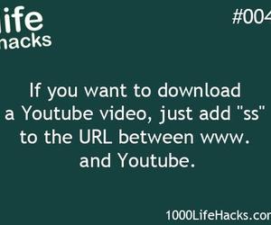 life hacks and youtube image