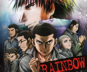anime, cabbage, and rainbow image