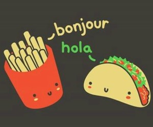 tacos, food, and bonjour image