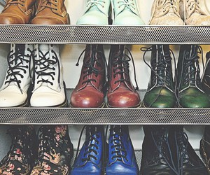 boots, dr marten, and grunge shoes image
