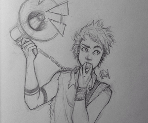 5sos, michael clifford, and drawing image