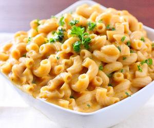 food, cheese, and macaroni image