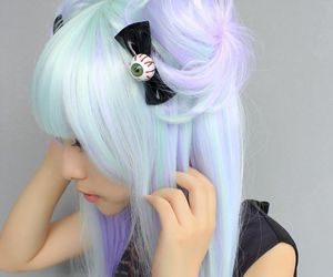 hair, pastel goth, and kawaii image