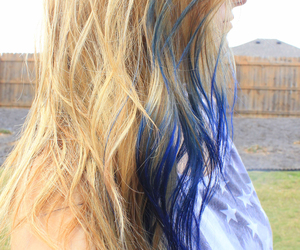 blonde, blonde hair, and blue hair image