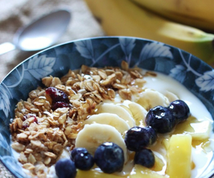 bananas, blueberry, and breakfast image