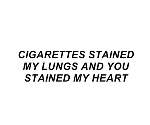 cigarettes, poem, and heart image