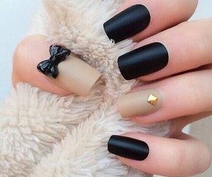 cool, nails, and black&blue image