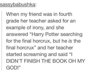 harry potter, funny, and horcrux image