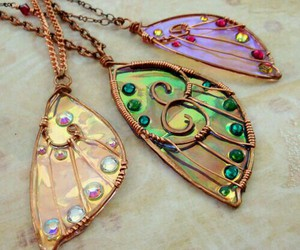 butterfly, necklace, and wings image