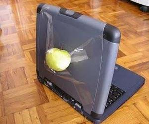 apple, funny, and laptop image