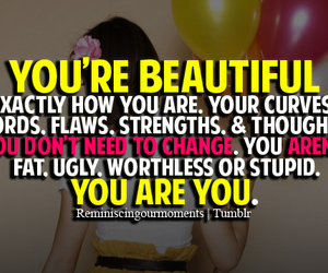 beautiful, quote, and you image