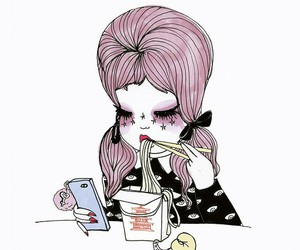 valfre, noodles, and pink image
