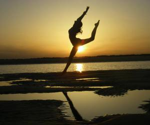 ballerina, ballet, and jump image