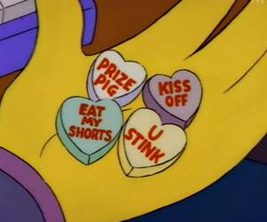 candy, simpsons, and valentine image
