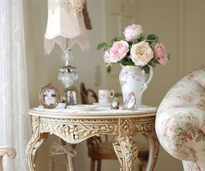 vintage, pink, and flowers image