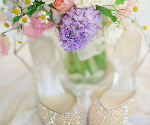 beautiful, flowers, and shoes image
