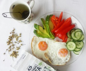 breakfast, fitness, and eggs image