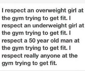 fitness, gym, and respect image