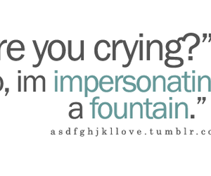 fountain, quote, and cry image