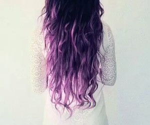 hair, dress, and purple image