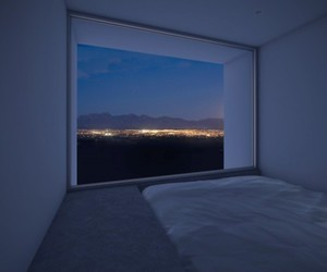 bed, city, and night image