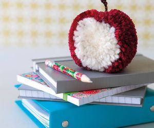 apple, diy, and pompon image