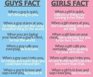 girl, fact, and boy image