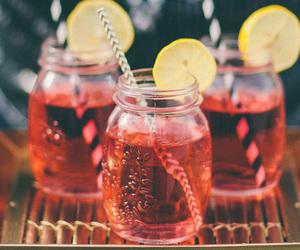 drink, summer, and lemon image