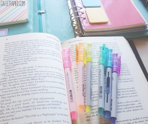 colorful, spring, and highlighters image