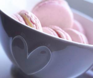 caramel, macrons, and homemade image
