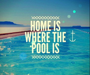 pool, swimming, and home image