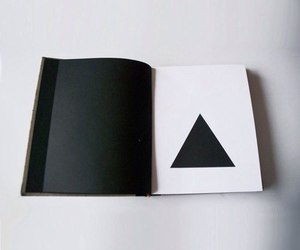 black, triangle, and white image