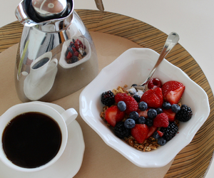 coffee, granola, and FRUiTS image