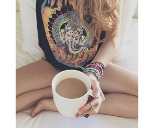 girl, coffee, and hipster image