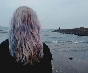 hair, girl, and grunge image