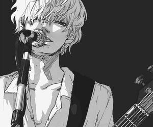 boy, manga, and guitar image