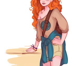 art, brave, and merida image