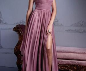 rose prom dress long image