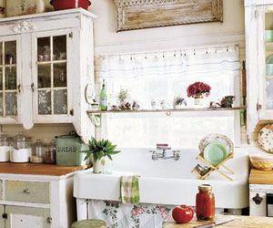 kitchen, vintage, and interior design image
