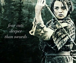 sword, arya stark, and game of thrones image