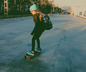girl, skate, and skating image
