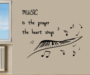 quotes, music, and wall decals image