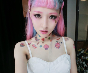 kawaii, asian, and pink image