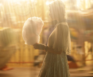 girl, dress, and cotton candy image