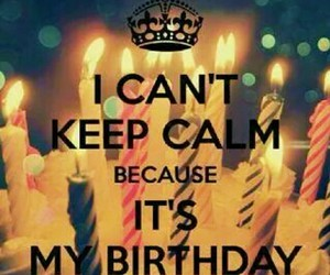 birthday, cake, and keep calm image