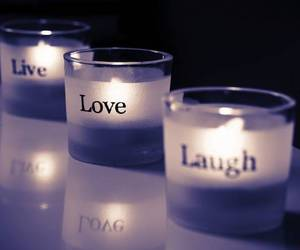 quote, candels, and livelovelaugh image