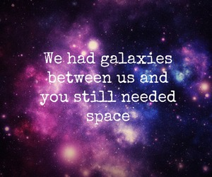 pink, space quote, and purple image