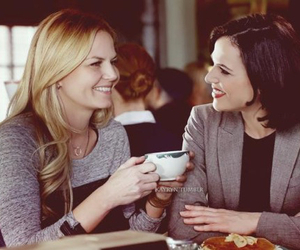 emma swan, regina mills, and once upon a time image