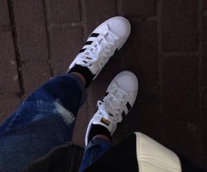 adidas, black, and emo image