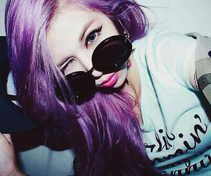 girl, purple, and asian image
